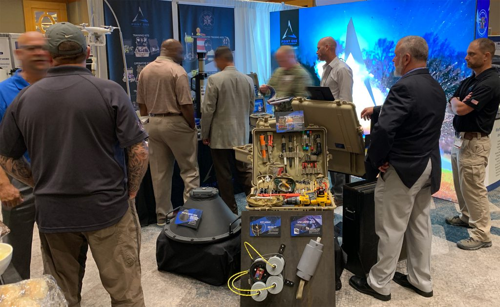 Point One booth at 2019 Global EOD Symposium and Exhibition