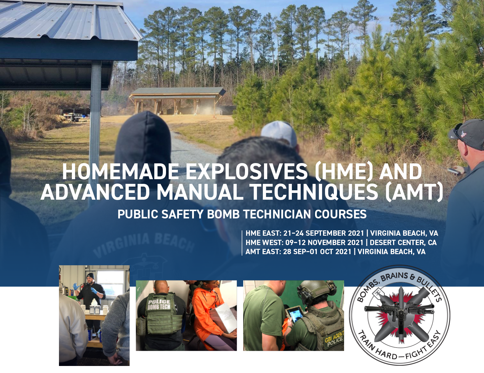 Individually purchasable course seats for bomb techs | PSBT HME & AMT courses